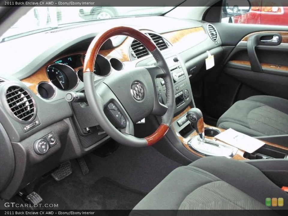 Ebony/Ebony 2011 Buick Enclave Interiors