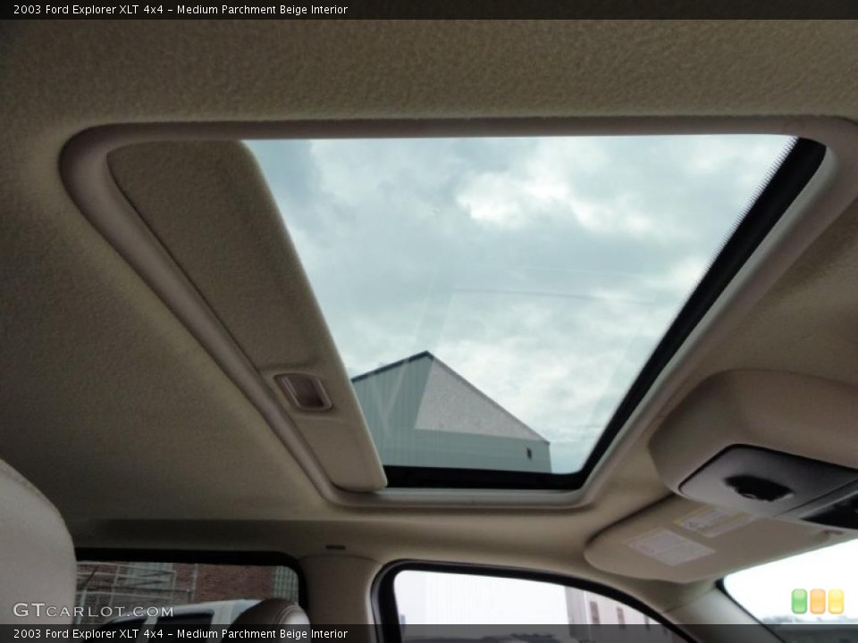 Medium Parchment Beige Interior Sunroof for the 2003 Ford Explorer XLT 4x4 #47511612
