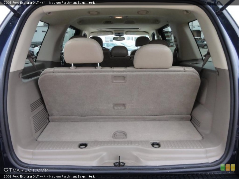 Medium Parchment Beige Interior Trunk for the 2003 Ford Explorer XLT 4x4 #47511724
