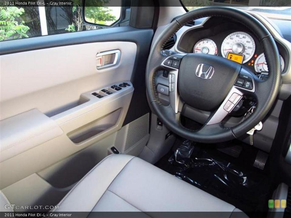 Gray Interior Steering Wheel for the 2011 Honda Pilot EX-L #47611346