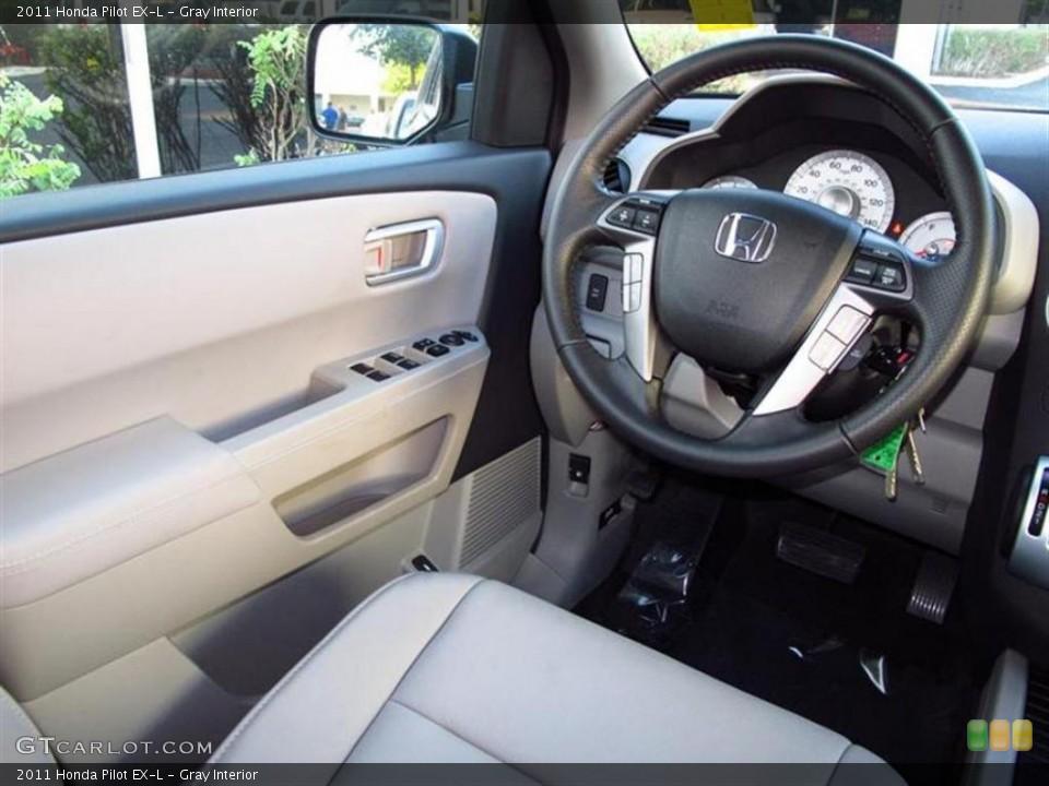 Gray Interior Steering Wheel for the 2011 Honda Pilot EX-L #47611652