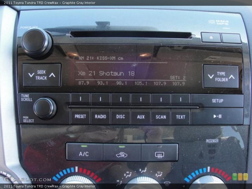 Graphite Gray Interior Controls for the 2011 Toyota Tundra TRD CrewMax #47630864
