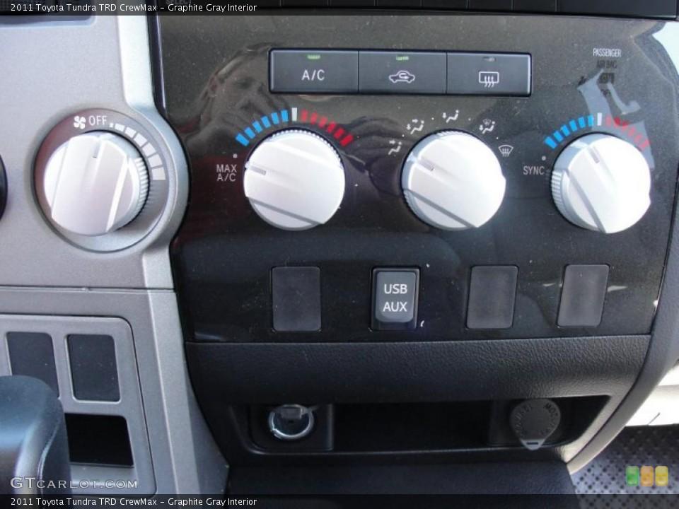 Graphite Gray Interior Controls for the 2011 Toyota Tundra TRD CrewMax #47630879