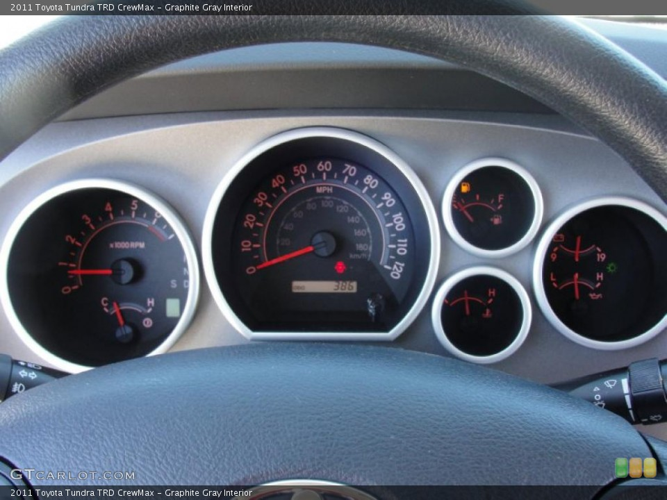 Graphite Gray Interior Gauges for the 2011 Toyota Tundra TRD CrewMax #47630951