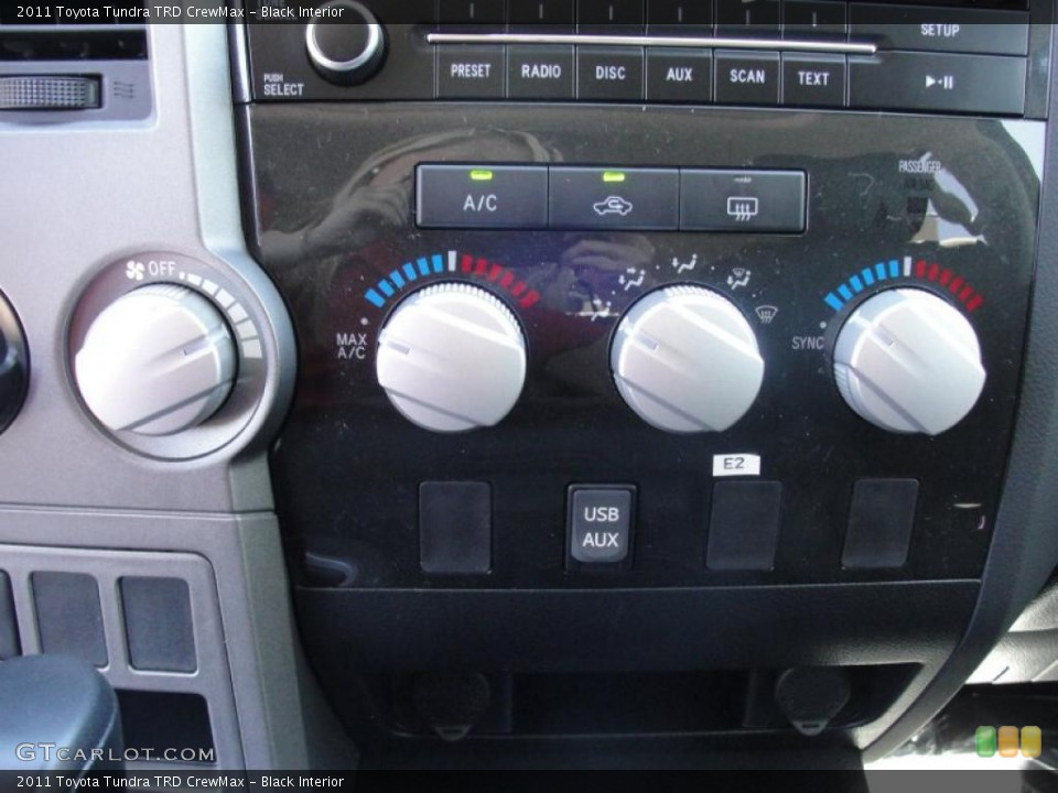 Black Interior Controls for the 2011 Toyota Tundra TRD CrewMax #47631386