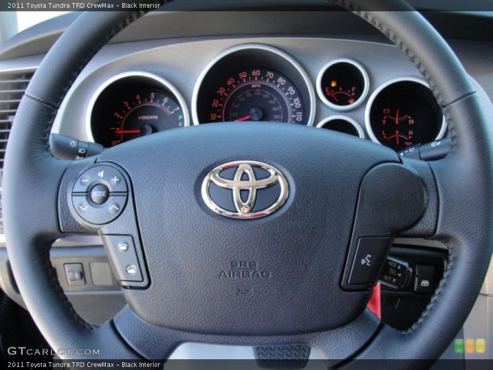 Black Interior Steering Wheel for the 2011 Toyota Tundra TRD CrewMax #47631449