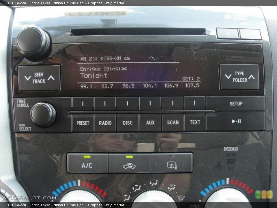 Graphite Gray Interior Controls for the 2011 Toyota Tundra Texas Edition Double Cab #47669164