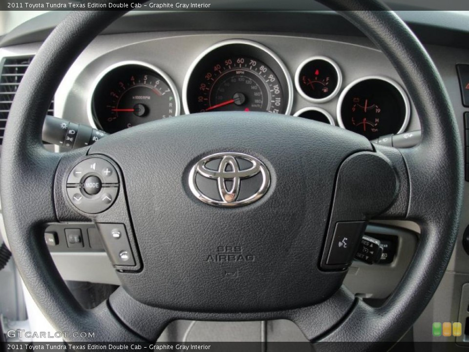 Graphite Gray Interior Steering Wheel for the 2011 Toyota Tundra Texas Edition Double Cab #47669251