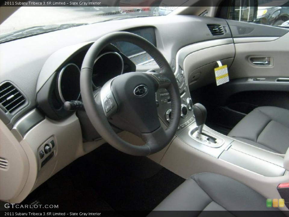 Slate Gray 2011 Subaru Tribeca Interiors