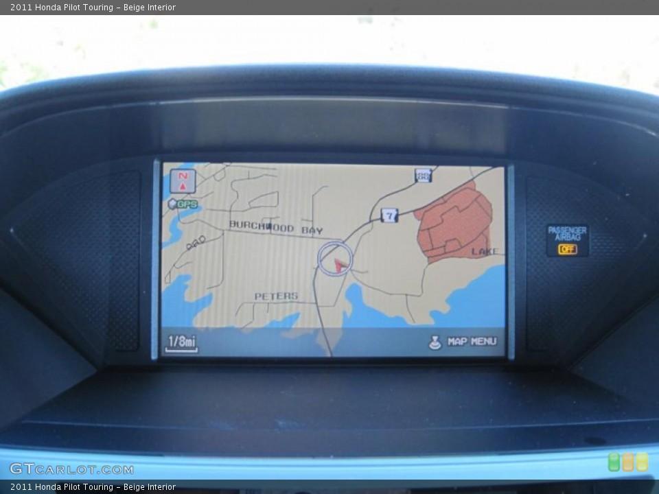 Beige Interior Navigation for the 2011 Honda Pilot Touring #47693928