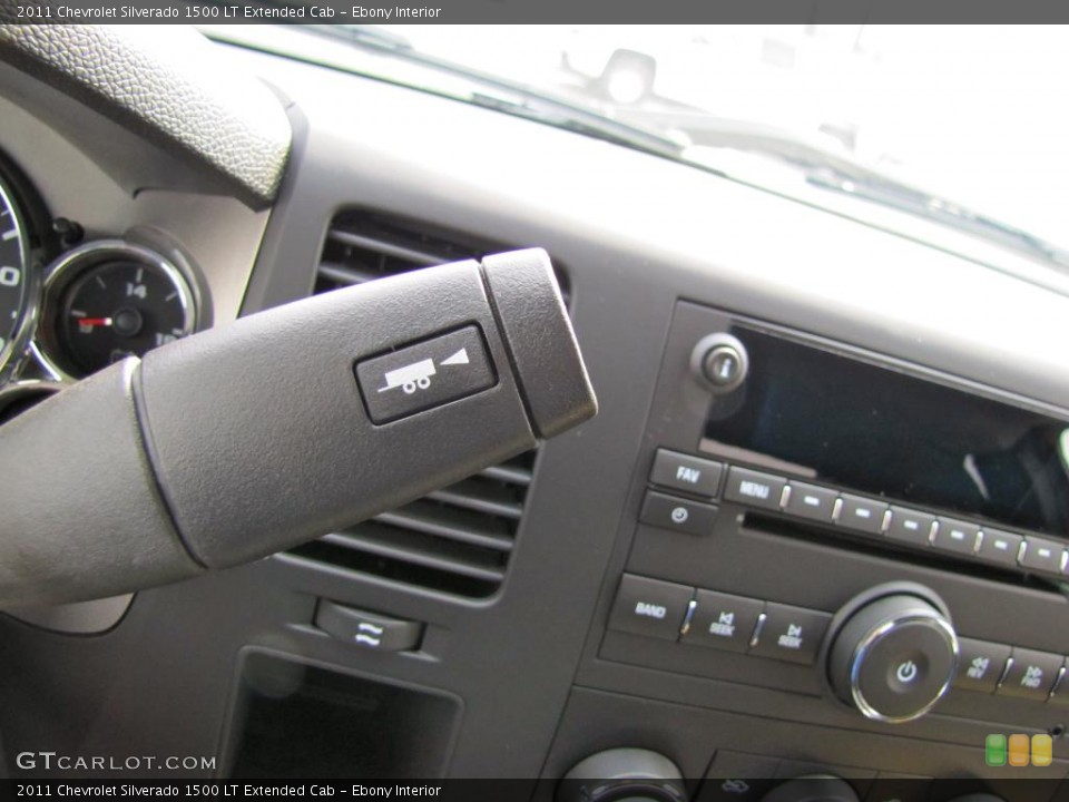 Ebony Interior Controls for the 2011 Chevrolet Silverado 1500 LT Extended Cab #47730000