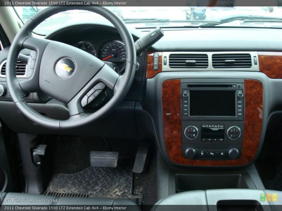 Ebony Interior Dashboard for the 2011 Chevrolet Silverado 1500 LTZ Extended Cab 4x4 #47831837