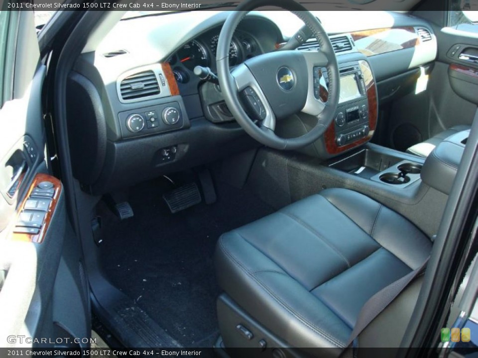 Ebony Interior Photo for the 2011 Chevrolet Silverado 1500 LTZ Crew Cab 4x4 #47877671