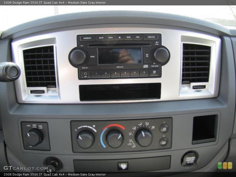 Medium Slate Gray Interior Controls for the 2008 Dodge Ram 3500 ST Quad Cab 4x4 #47883179