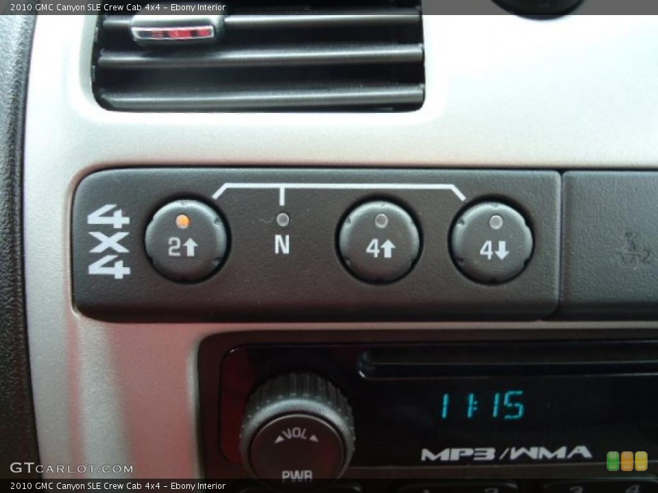 Ebony Interior Controls for the 2010 GMC Canyon SLE Crew Cab 4x4 #47884115