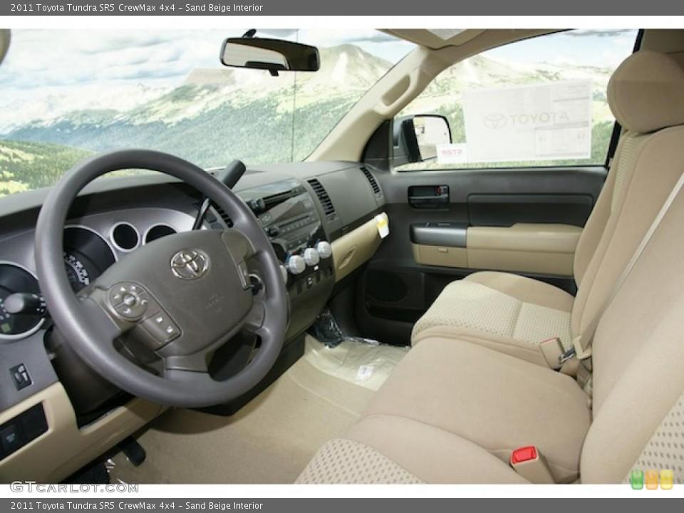 Sand Beige Interior Photo for the 2011 Toyota Tundra SR5 CrewMax 4x4 #47983355