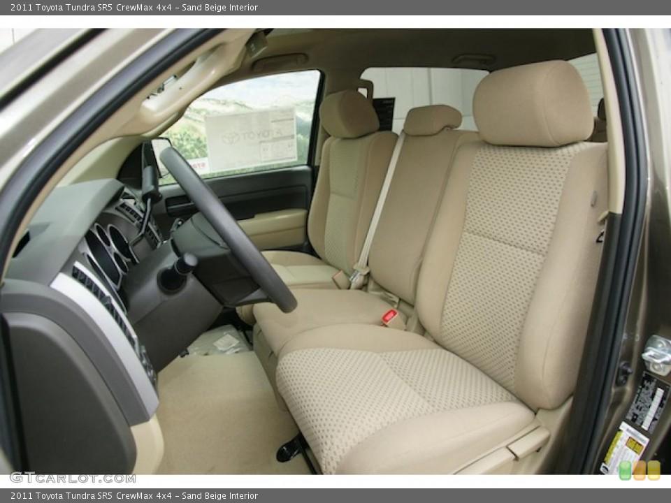 Sand Beige Interior Photo for the 2011 Toyota Tundra SR5 CrewMax 4x4 #47983379