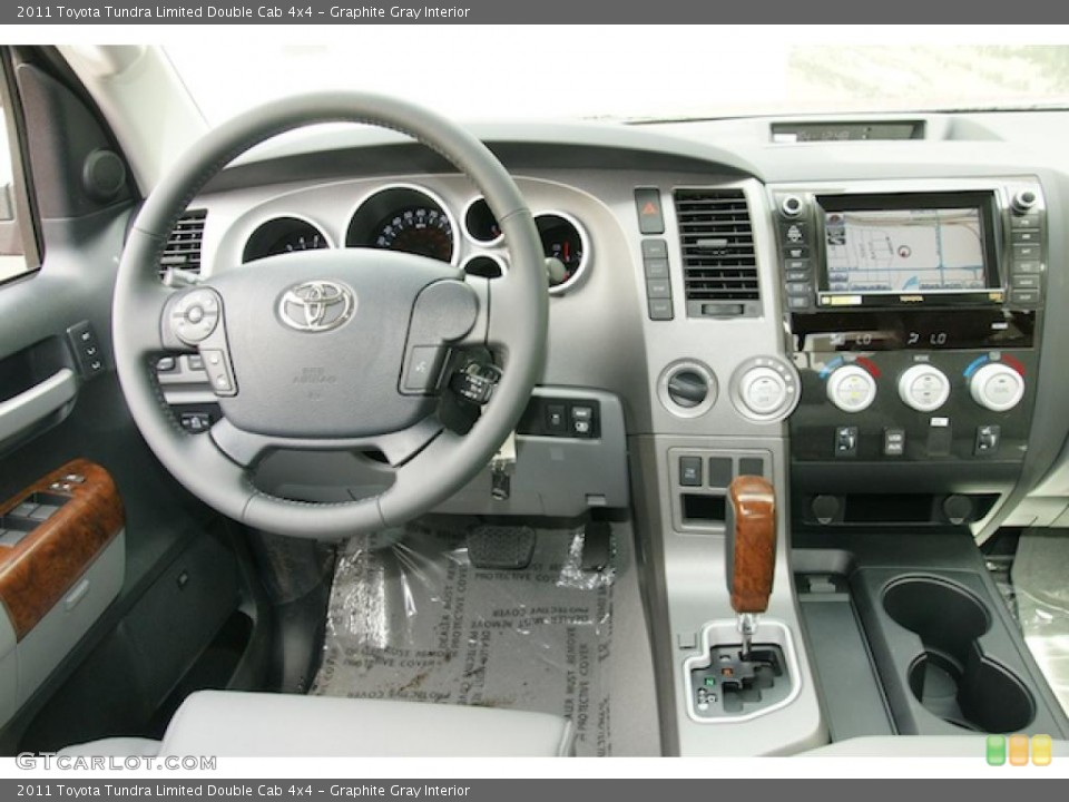 Graphite Gray Interior Dashboard for the 2011 Toyota Tundra Limited Double Cab 4x4 #47984135