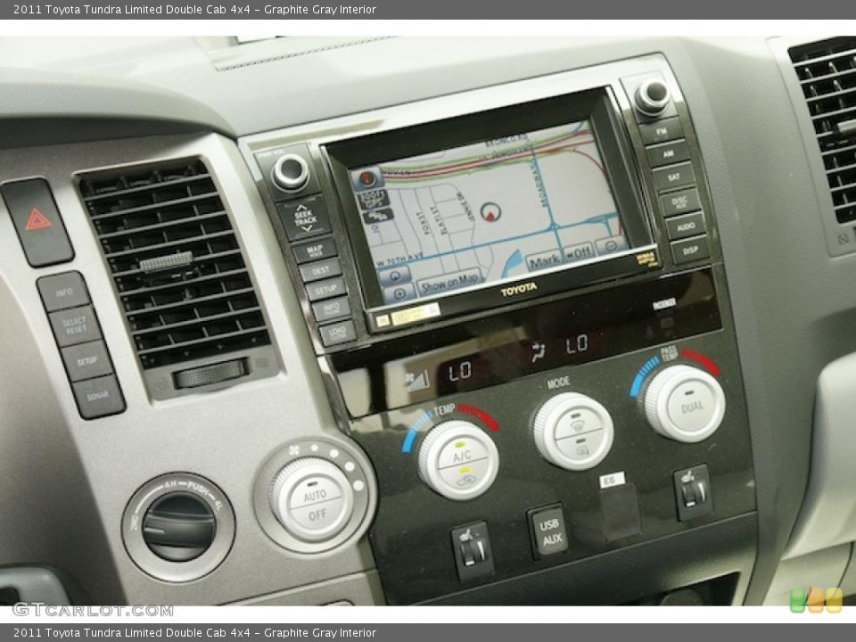 Graphite Gray Interior Navigation for the 2011 Toyota Tundra Limited Double Cab 4x4 #47984150
