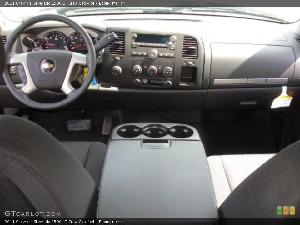 Ebony Interior Dashboard for the 2011 Chevrolet Silverado 1500 LT Crew Cab 4x4 #47987121