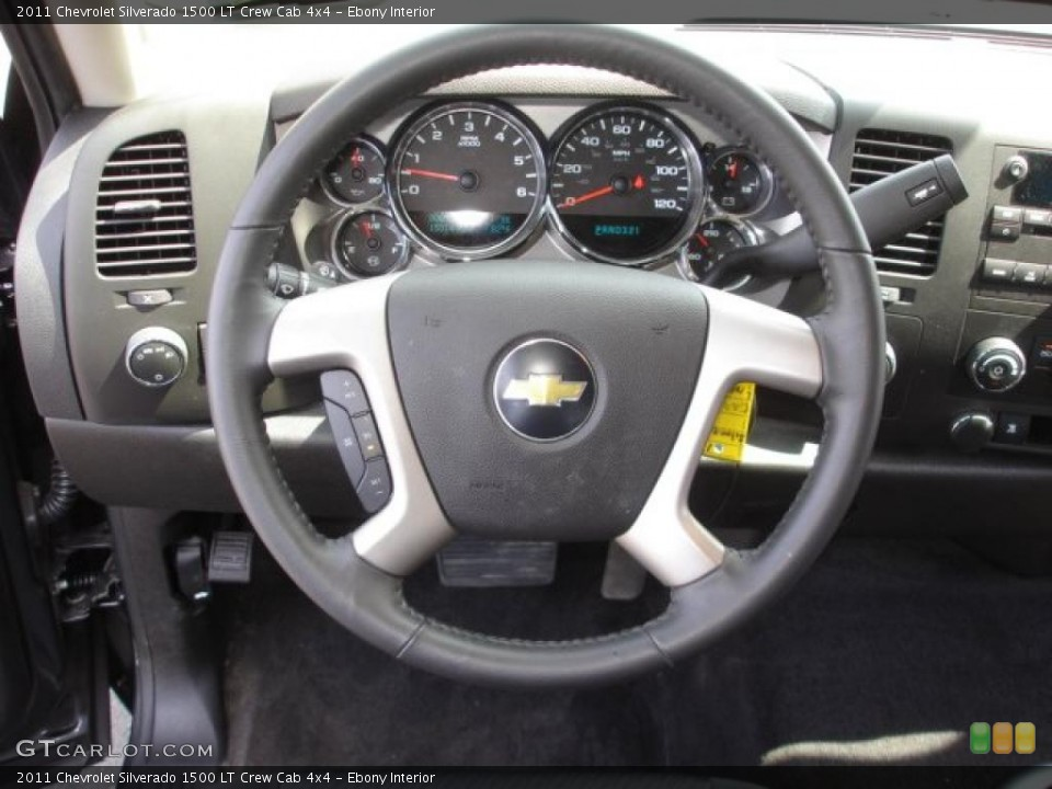 Ebony Interior Steering Wheel for the 2011 Chevrolet Silverado 1500 LT Crew Cab 4x4 #47987133