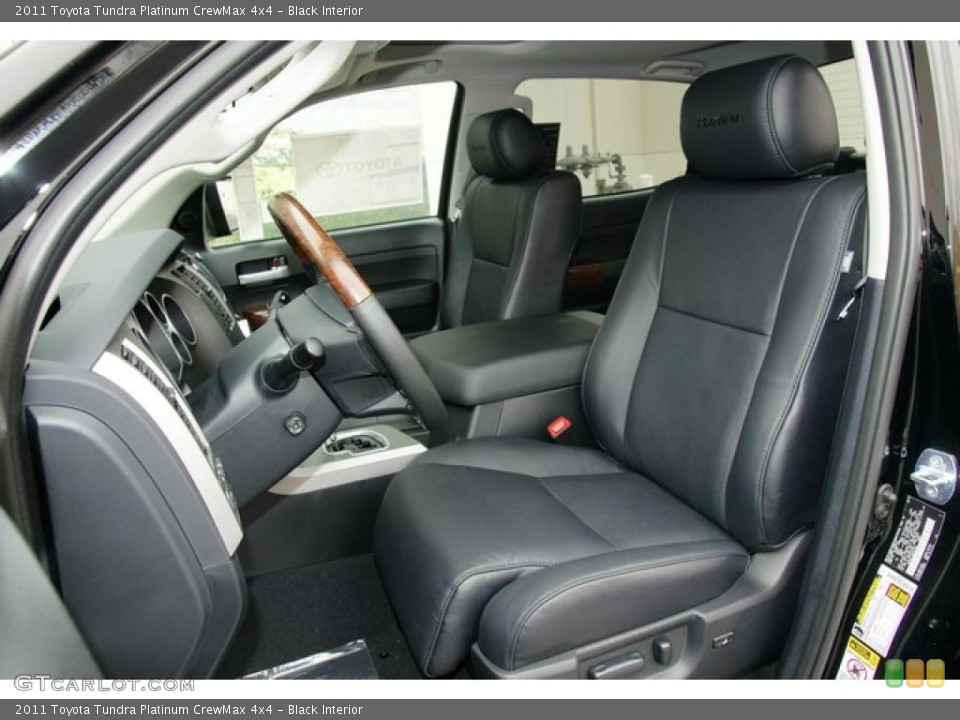 Black Interior Photo for the 2011 Toyota Tundra Platinum CrewMax 4x4 #48046345