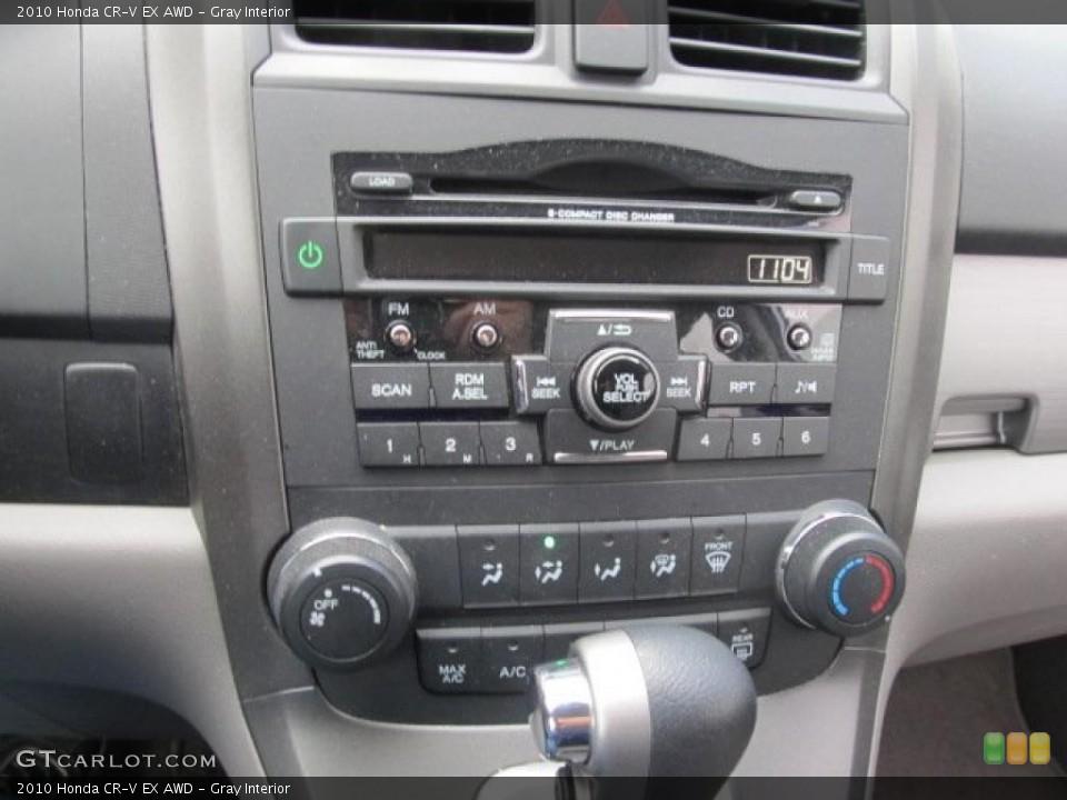 Gray Interior Controls for the 2010 Honda CR-V EX AWD #48055103
