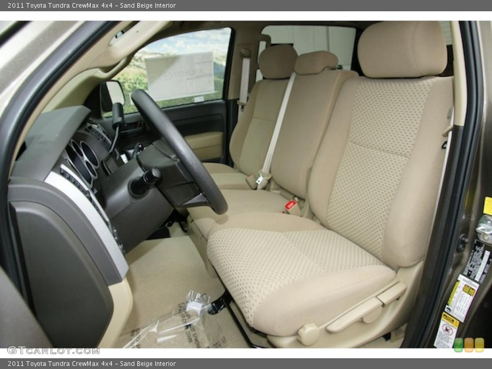 Sand Beige Interior Photo for the 2011 Toyota Tundra CrewMax 4x4 #48111627