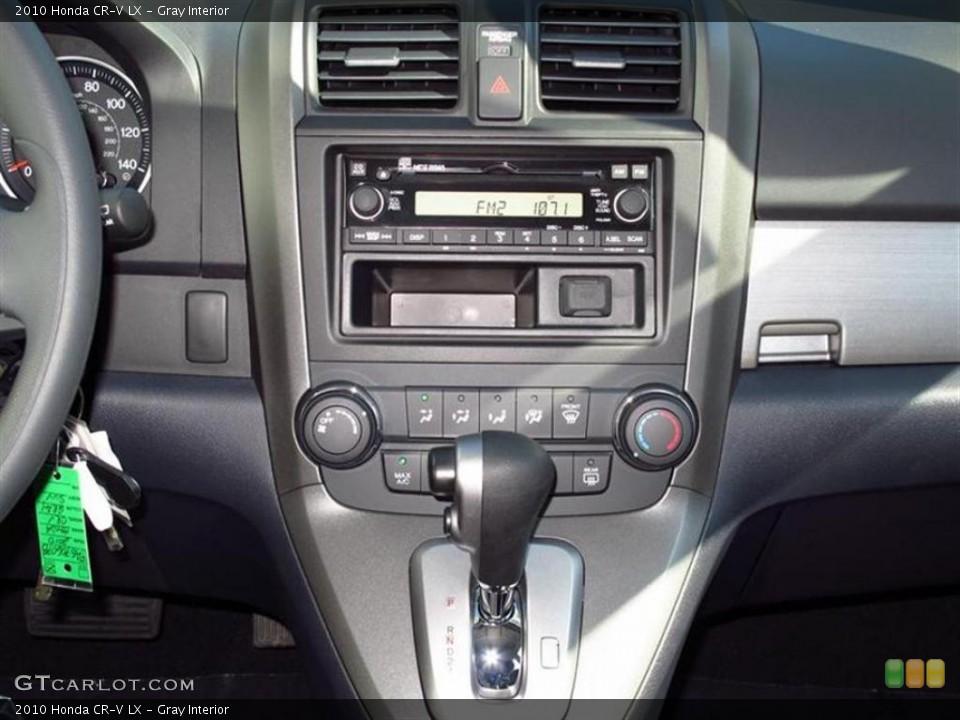 Gray Interior Controls for the 2010 Honda CR-V LX #48124729