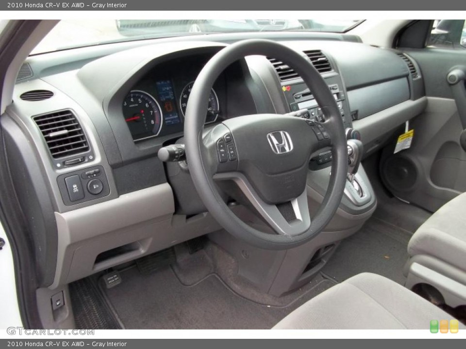 Gray Interior Prime Interior for the 2010 Honda CR-V EX AWD #48152237