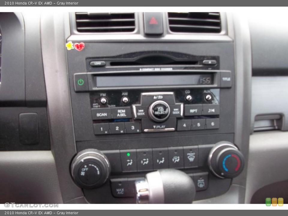 Gray Interior Controls for the 2010 Honda CR-V EX AWD #48152264