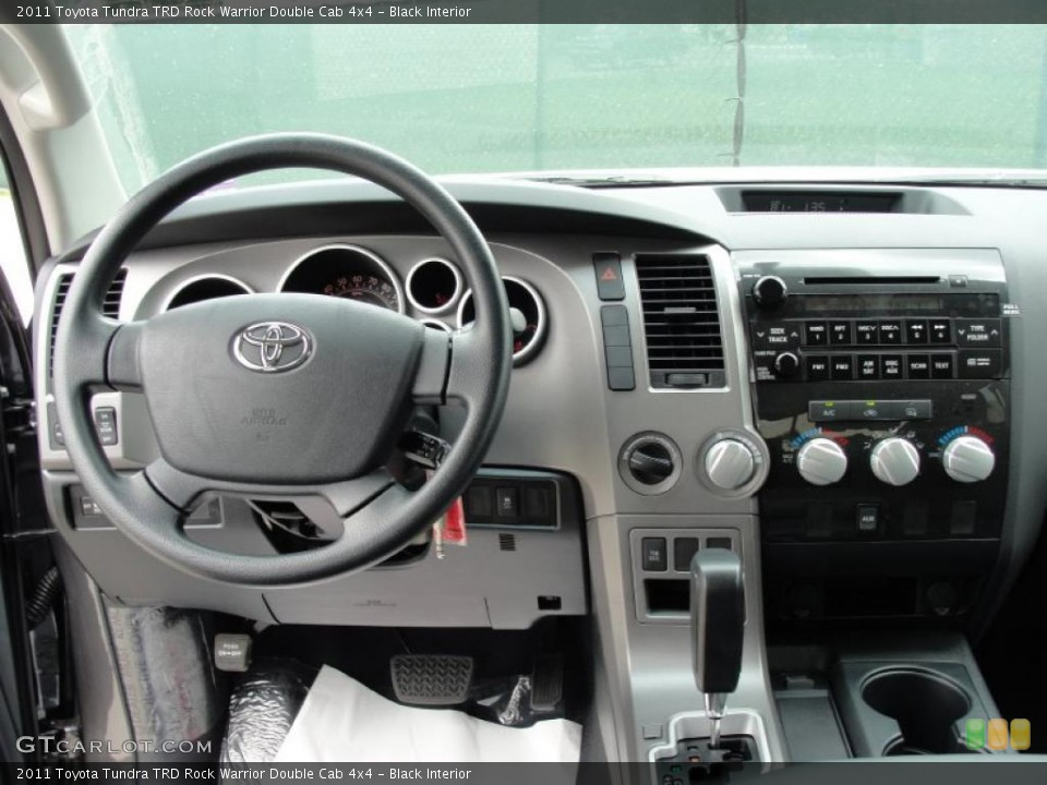 Black Interior Dashboard for the 2011 Toyota Tundra TRD Rock Warrior Double Cab 4x4 #48198598