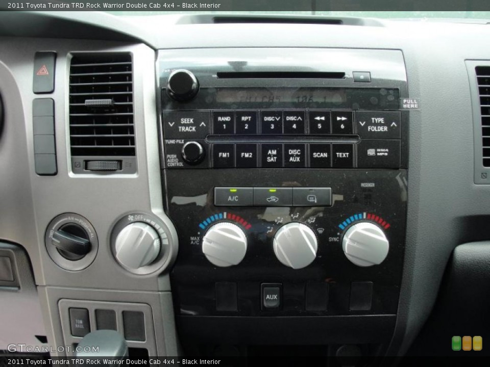 Black Interior Controls for the 2011 Toyota Tundra TRD Rock Warrior Double Cab 4x4 #48198613