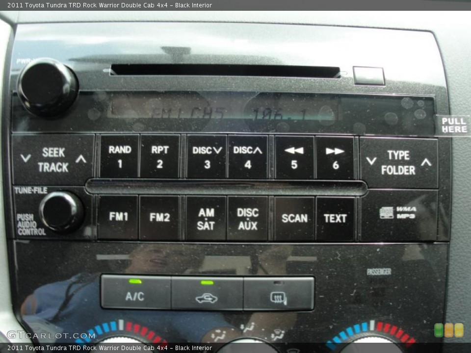 Black Interior Controls for the 2011 Toyota Tundra TRD Rock Warrior Double Cab 4x4 #48198643