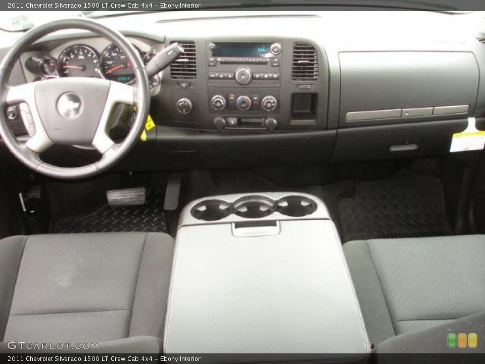 Ebony Interior Dashboard for the 2011 Chevrolet Silverado 1500 LT Crew Cab 4x4 #48251229
