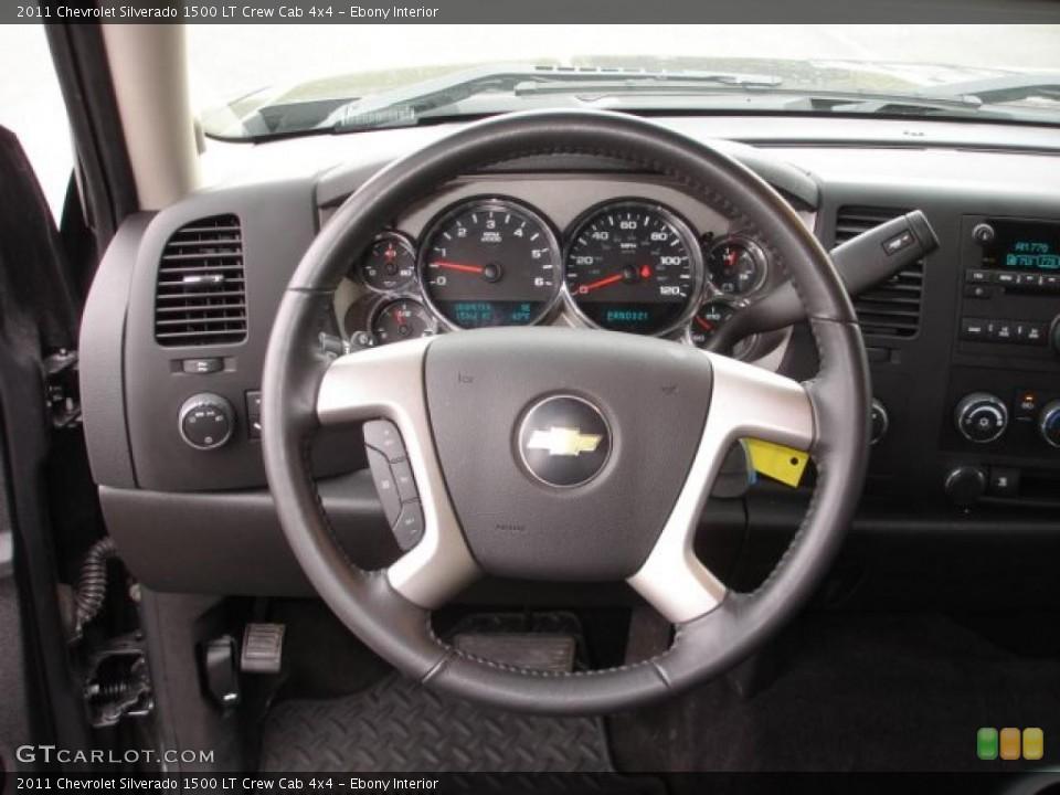 Ebony Interior Steering Wheel for the 2011 Chevrolet Silverado 1500 LT Crew Cab 4x4 #48251373