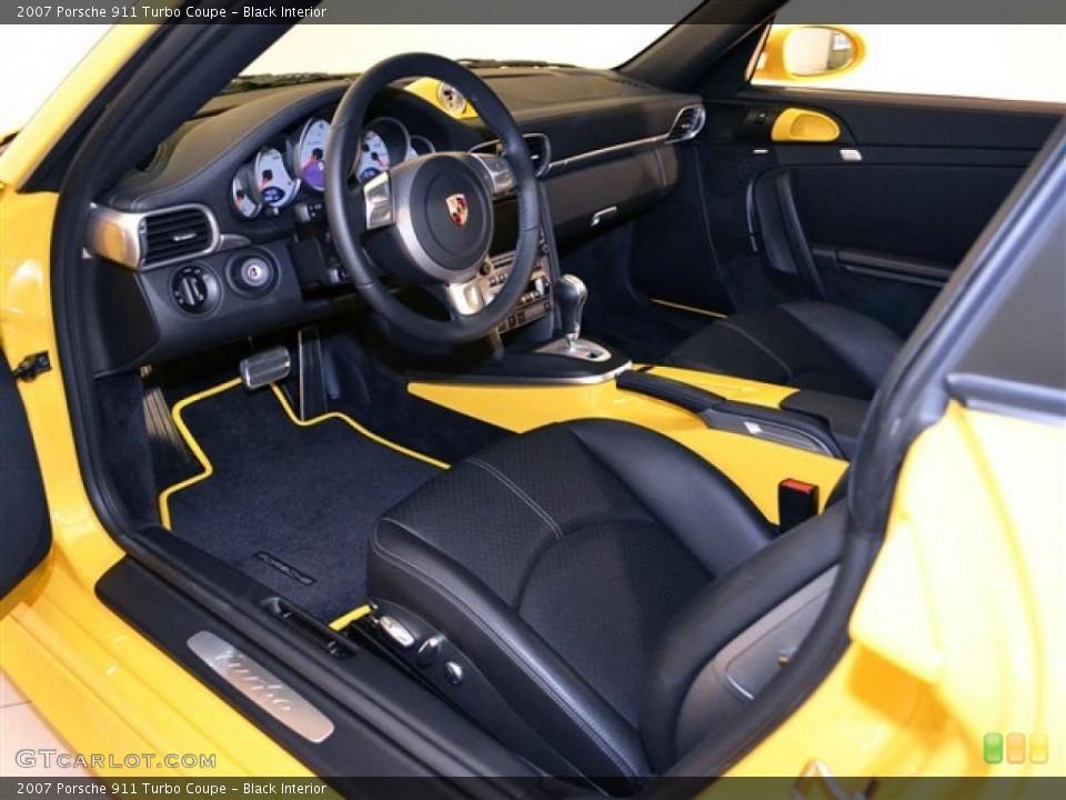 Black Interior Photo for the 2007 Porsche 911 Turbo Coupe #48277522