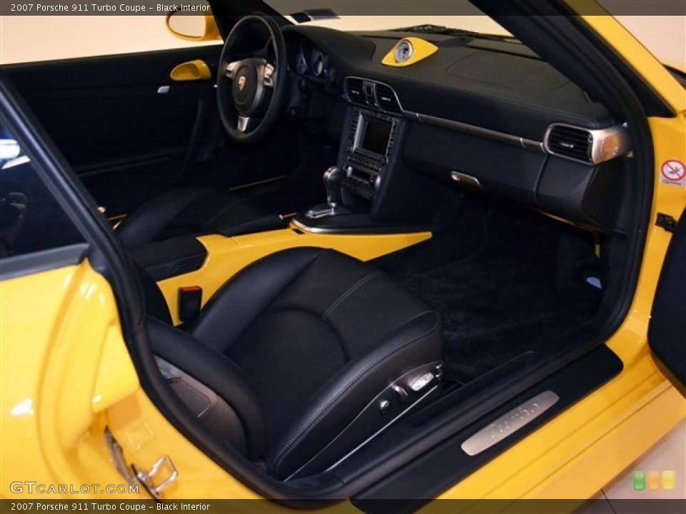 Black Interior Photo for the 2007 Porsche 911 Turbo Coupe #48277606