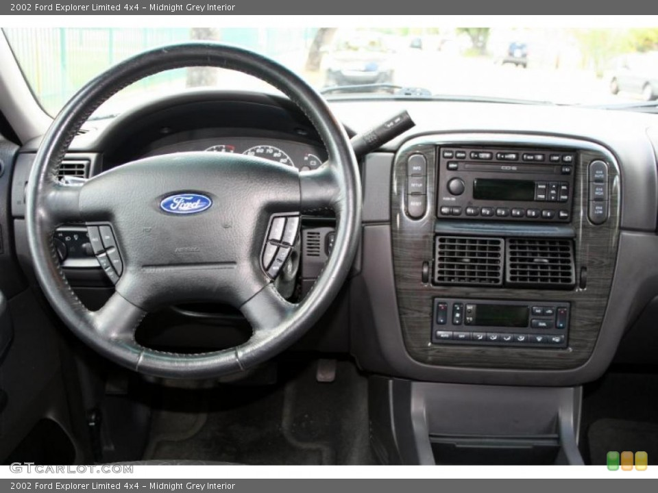 Midnight Grey Interior Dashboard for the 2002 Ford Explorer Limited 4x4 #48281176