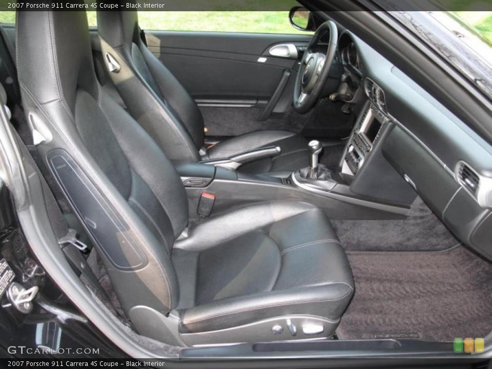 Black Interior Photo for the 2007 Porsche 911 Carrera 4S Coupe #48312385