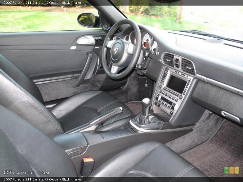 Black Interior Photo for the 2007 Porsche 911 Carrera 4S Coupe #48312394