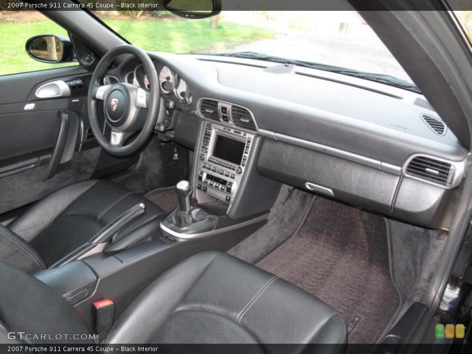 Black Interior Dashboard for the 2007 Porsche 911 Carrera 4S Coupe #48312409