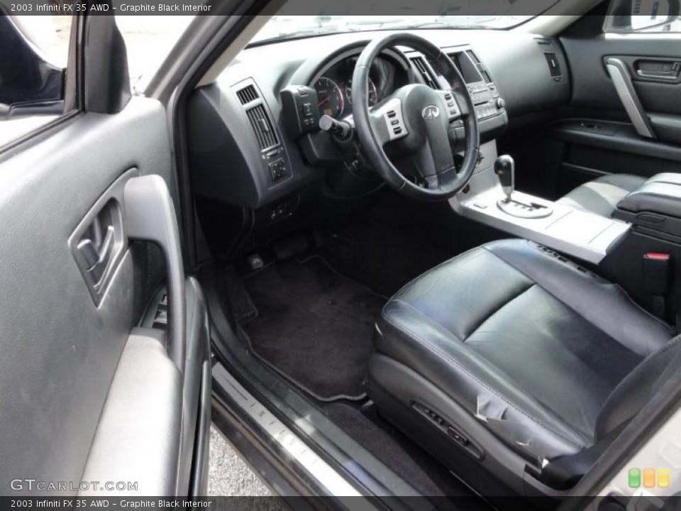 Graphite Black Interior Photo for the 2003 Infiniti FX 35 AWD #48346189