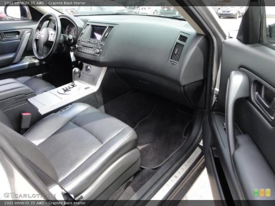 Graphite Black Interior Photo for the 2003 Infiniti FX 35 AWD #48346282
