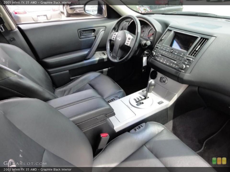 Graphite Black Interior Photo for the 2003 Infiniti FX 35 AWD #48346297