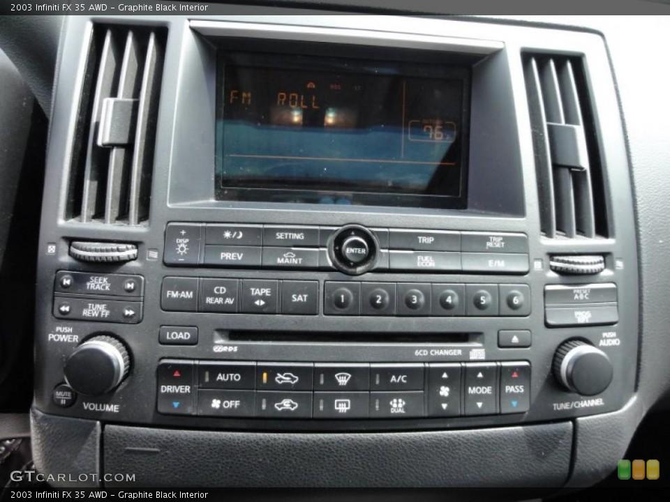 Graphite Black Interior Controls for the 2003 Infiniti FX 35 AWD #48346675