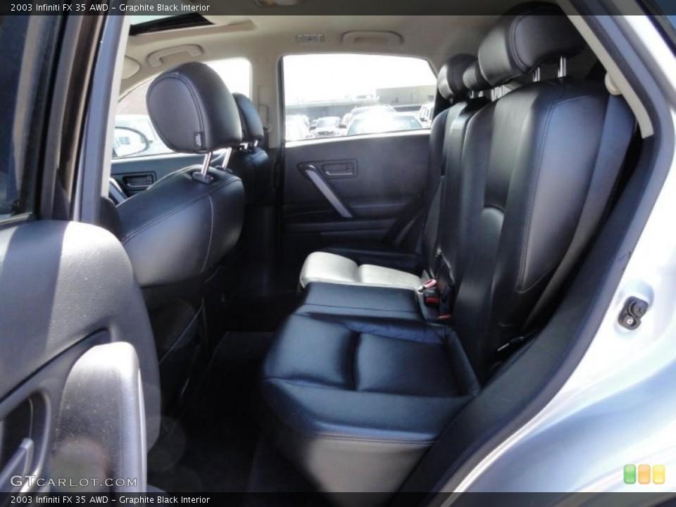 Graphite Black Interior Photo for the 2003 Infiniti FX 35 AWD #48352132