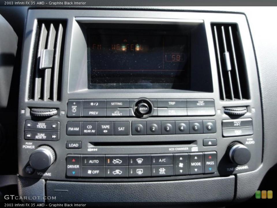Graphite Black Interior Controls for the 2003 Infiniti FX 35 AWD #48352354