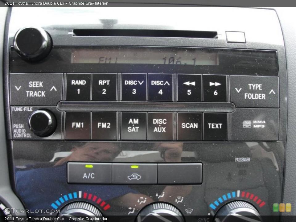 Graphite Gray Interior Controls for the 2011 Toyota Tundra Double Cab #48382802