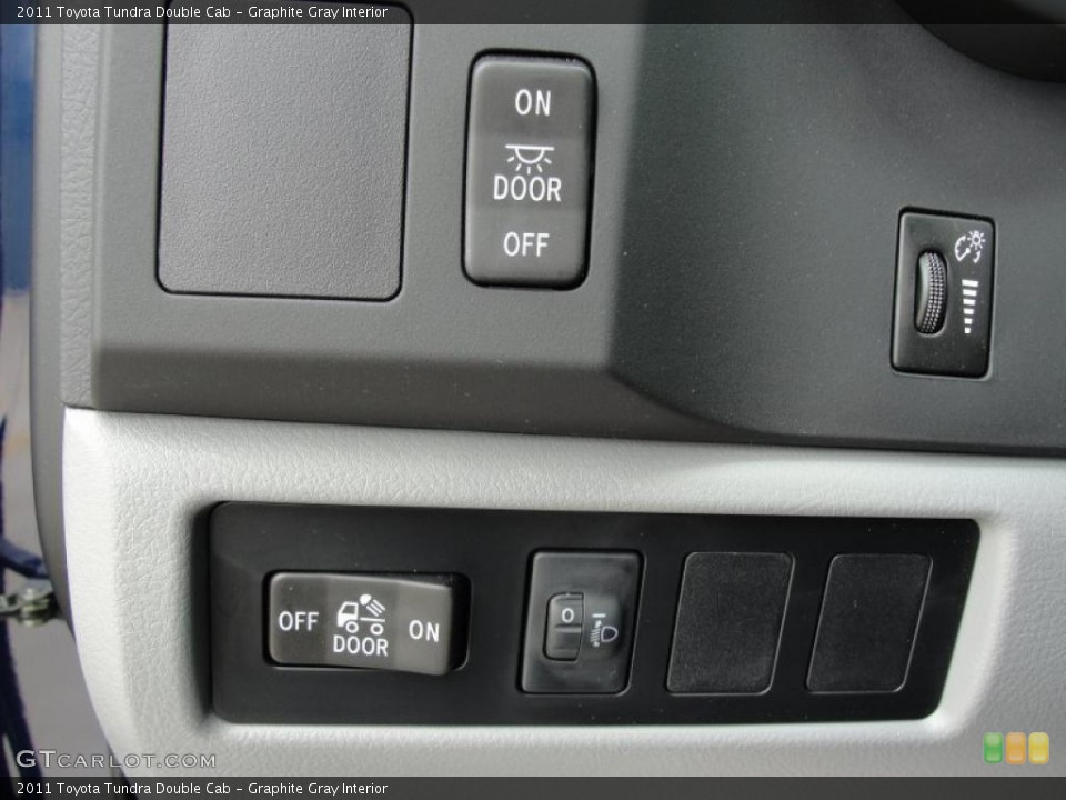 Graphite Gray Interior Controls for the 2011 Toyota Tundra Double Cab #48382823